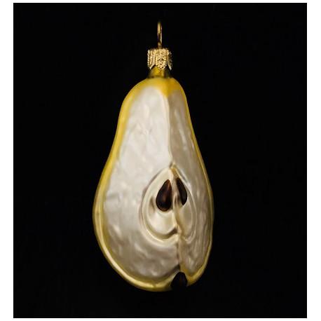 1/4 pera - Decorazioni in vetro fatte a mano