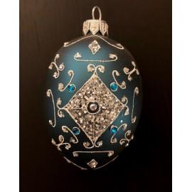 Uovo forma - Decorazioni in vetro fatte a mano