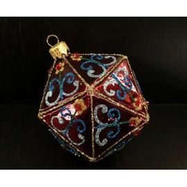 Prisma decorato - decorazione in vetro fatta a mano