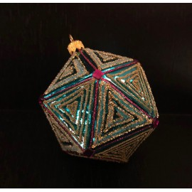 Prisma decorato - Decorazioni in vetro fatte a mano